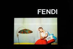 Fendi gablota wystawowa Obraz Stock
