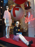 Fendi Holiday Store Window in New York City Royalty Free Stock Photo