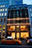 Fendi lager i Manhattan, NYC arkivfoton