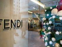 Fendi lager på Ginza Arkivbilder