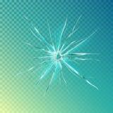 Fendi sulla finestra o sul vetro, schermo rotto illustrazione vettoriale