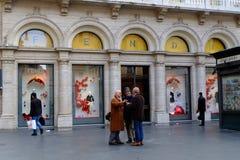 Fendi w Rzym Zdjęcia Royalty Free