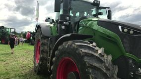 Fendt top model 1050 Vario at tractor exhibition stock footage