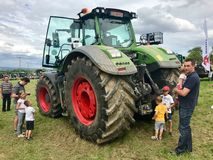 Fendt top model 1050 Vario at tractor exhibition Royalty Free Stock Photos
