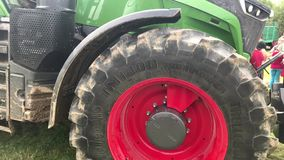 Fendt top model 1050 Vario at tractor exhibition stock video