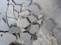 Fendu du béton de ciment Image libre de droits