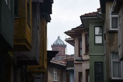 Fener District in Istanbul stock images