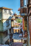Fener district with view of Phanar Greek Orthodox College stock image