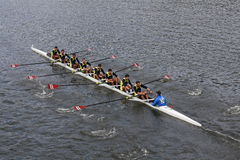 Fenerbahçe Rowining of  Istanbul Turkey races in the Head of Charles Regatta Stock Photos
