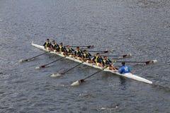 Fenerbahçe Rowining of  Istanbul Turkey races in the Head of Charles Regatta Royalty Free Stock Photo