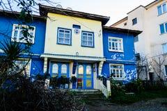 Fenerbahce体育俱乐部大厦在Cinarcik镇-土耳其 免版税图库摄影