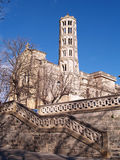 Fenestrelle Tower, Saint-Theodorit Cathedral in Uzes Royalty Free Stock Photography