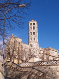 Fenestrelle Tower, Saint-Theodorit Cathedral in Uzes Stock Photos