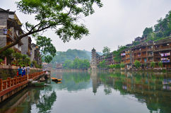 Feng Huang old town. Of China stock images