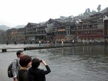 Feng Huang Yunnan China. Waterfront living stock image
