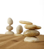 Feng Shui. Elements feng shui for a relaxation and concentration of ideas on sand Royalty Free Stock Photo