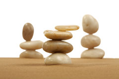 Feng Shui. Elements feng shui for a relaxation and concentration of ideas on sand stock photos
