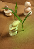 Feng Shui. Elements feng shui for a relaxation and concentration of ideas on sand stock photography