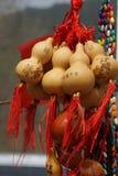 Feng Shui Calabaza Wu Lou (Wu Lu) El símbolo de la salud y de la riqueza Imagen de archivo libre de regalías
