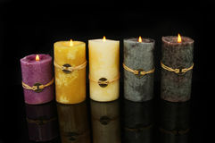 Feng Shui candles Royalty Free Stock Images