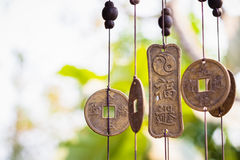 Feng Shui chimes. Hanged outside the house  for protection and good luck Royalty Free Stock Images