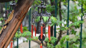 Feng Shui Chinese Bell in the rain Royalty Free Stock Photography