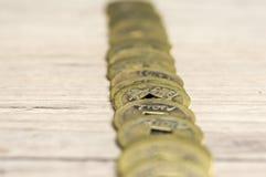 Feng Shui coins. Close up shot of golden feng shui coins Stock Images