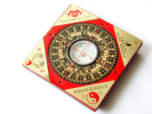 Feng shui compass. (Luopan) for decorating auspicious homes stock image