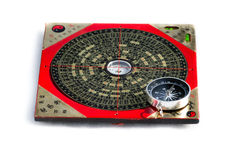 Feng Shui Compass And Magnet Compass Isolated On White Background Royalty Free Stock Image