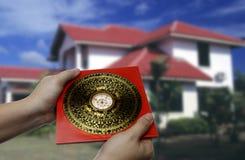 Feng shui compass. An old feng shui compass stock photography