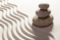 Feng-shui decor in sand Stock Image