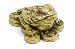 Feng Shui frog Stock Photos