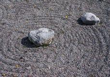 Feng Shui garden zen stones Royalty Free Stock Image