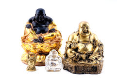 Feng Shui. Laughing Buddhas Royalty Free Stock Photos