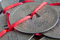 Feng shui lucky coins Stock Image
