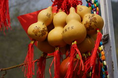 Feng Shui. Pumpkin Wu Lou (Wu Lu). The symbol of health and wealth. Stock Images
