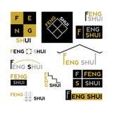 Feng Shui - samling av abstrakta designbeståndsdelar Royaltyfri Fotografi