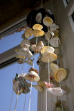 Feng Shui Shells. Shells hanging in a room stock images