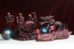 Feng Shui Statues Stock Photos