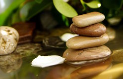Feng Shui, the stones in the water Stock Images