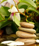 Feng Shui, the stones in the water Stock Photo