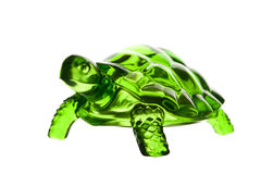 Feng Shui turtle, on white background. Green crystal Feng Shui turtle, on white background stock photo