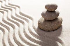 Feng-shuidekor im Sand Stockbild