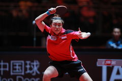 FENG Tianwei. From Singapor. Women`s Singles Round of 16 World table tennis championships in Dusseldorf. 29 May 6 june 2017 Stock Image