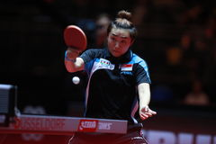 FENG Tianwei. From Singapor. Women`s Singles Round of 4 World table tennis championships in Dusseldorf. 29 May 6 june 2017 Stock Image