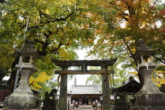 Feng Yuji Shrine Spot Japan. Front view of Pailou at Feng Yuji Shrine Spot Japan royalty free stock photo