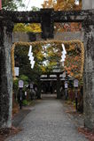 Feng Yuji Shrine Spot Japan. Front view of Pailou at Feng Yuji Shrine Spot Japan stock photos