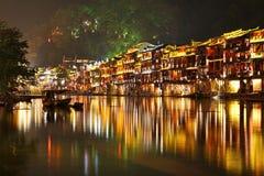 Fenghuang在晚上 免版税库存图片