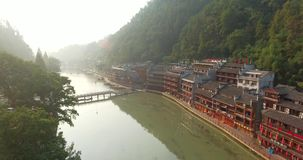 Fenghuang aerial shot stock video footage