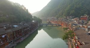 Fenghuang aerial shot stock video